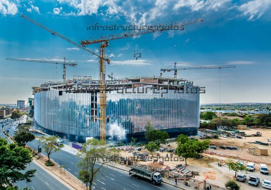Discovery Place construction site Sandton