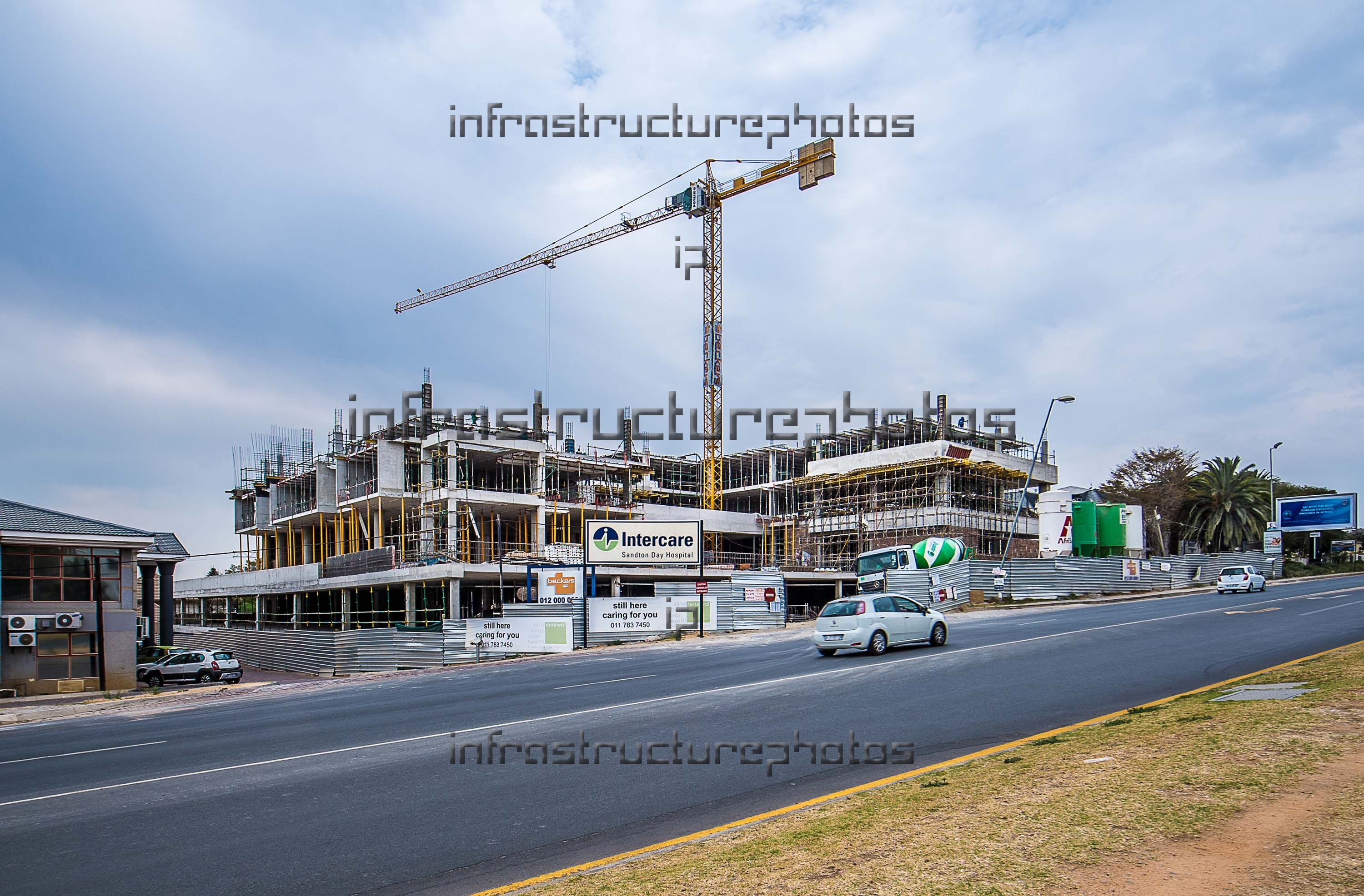 Sandton Day Hospital construction