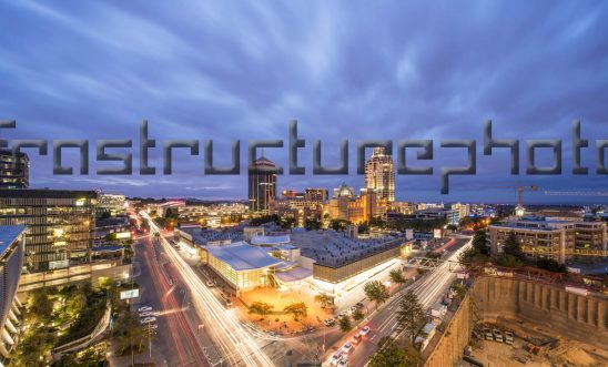Sandton at night